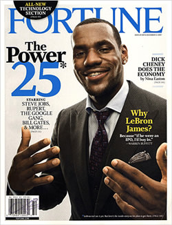 LeBron on Fortune Magazine