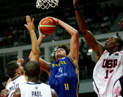 Andy Varejao Playing For Brazil