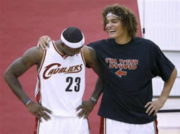 LeBron and Anderson Varejao