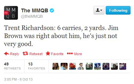 MMQB Hates Trent Richardson