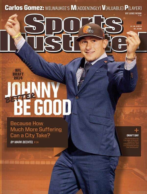 Johnny Manziel SI cover