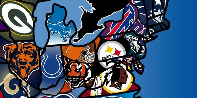 Cleveland Browns fan map Pittsburgh Steelers