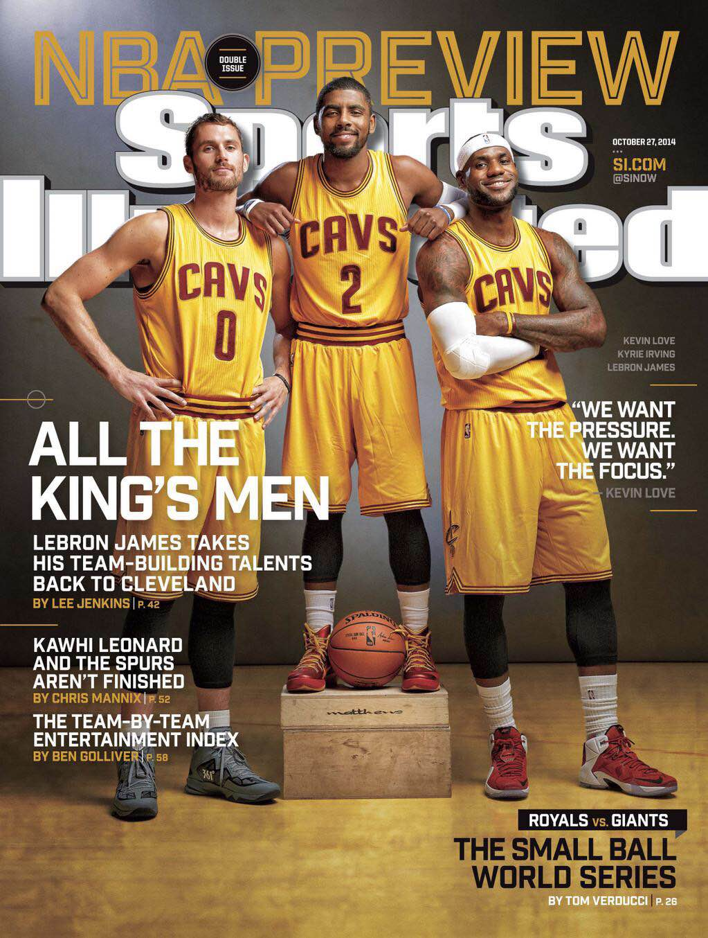 LeBron James, Kyrie Irving and Kevin Love make this week's Sports Illustrated Cover