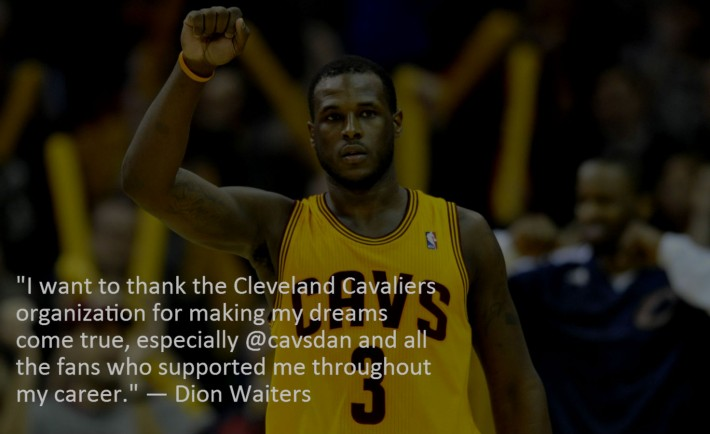 Dion Waiters Instagram Cleveland Cavaliers