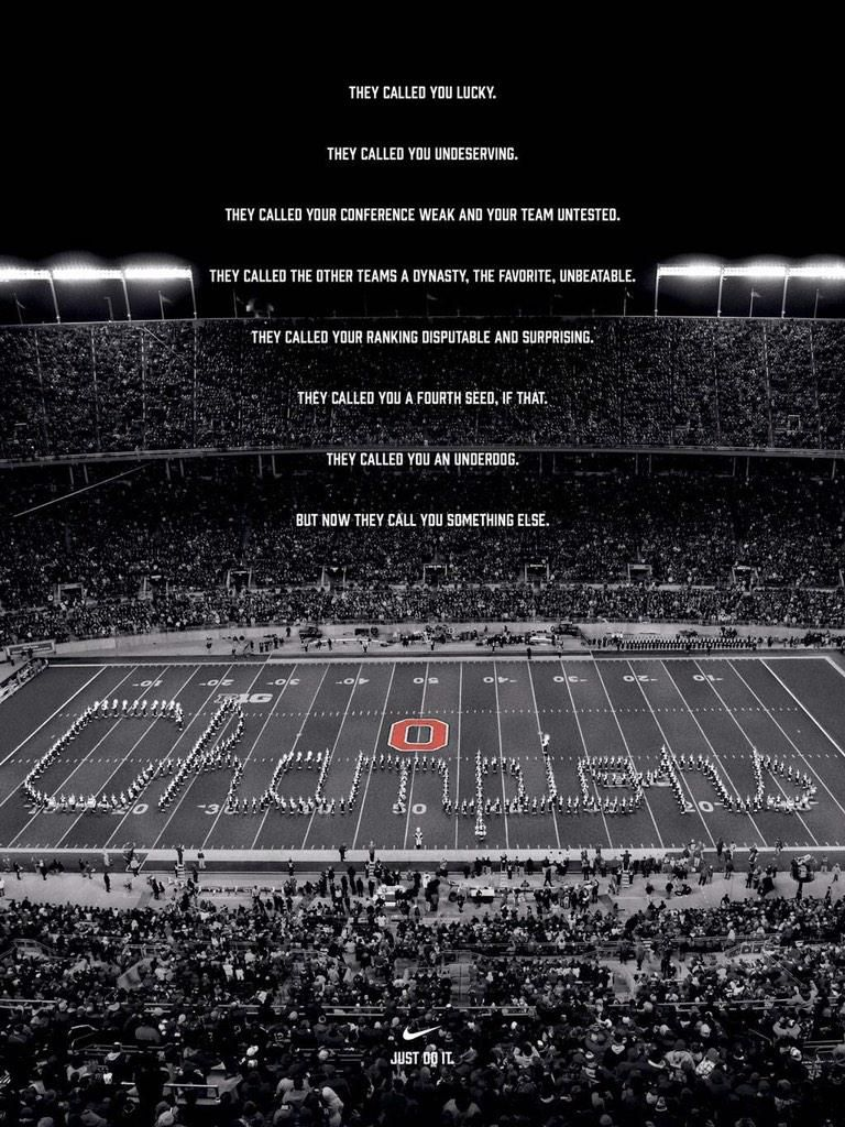 Nike's Ohio State Poster Says It All