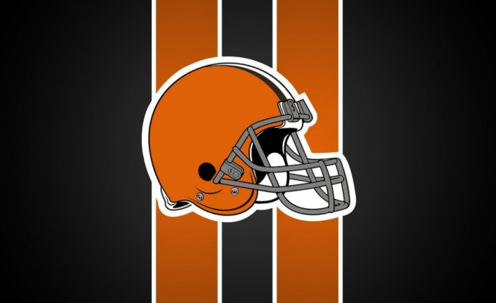 Browns helmet + background